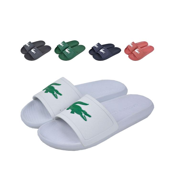 mens white lacoste flip flops - 53% OFF