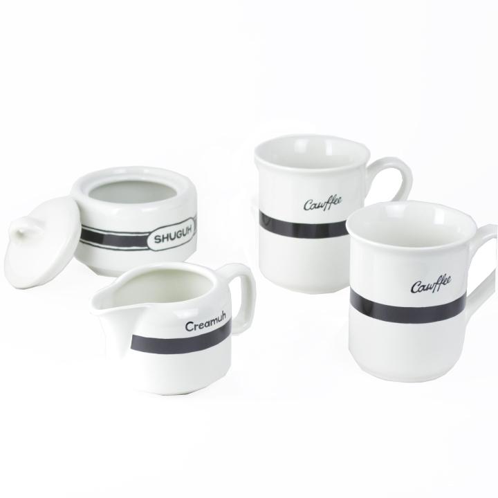 フィシィズエディ コーヒーカップ マグカップ ギフトセット FISHS EDDY BROOKLYNESE COFFEE SET GIFT BOX 500123 【marquee】 [cup] [gift set]