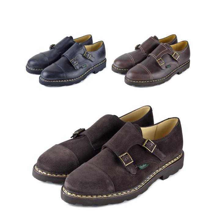 【5%還元!】PARABOOT パラブーツ WILLIAM Shoes ウィリアム ダブルモンクレザーシューズ メンズ 革靴【marquee】