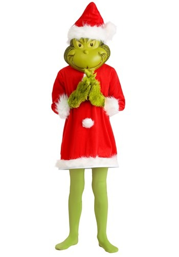 【店内全品P5倍】キッズ The Grinch Santa デラックス コスチューム with マスク ハロウィン 子ども コスプレ 衣装 仮装 こども イベント 子ども パーティ ハロウィーン 学芸会