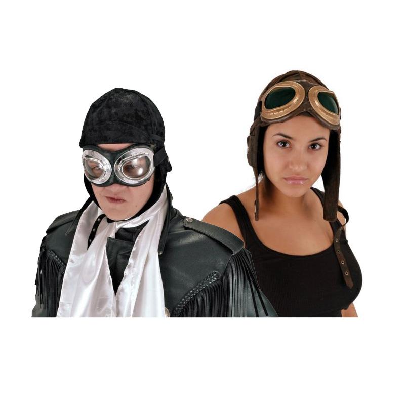 【ポイント最大29倍●お買い物マラソン限定!エントリー】Aviator Hat 大人用 Pilot Cap Steampunk Roaring 20s ハロウィン コスチューム コスプレ 衣装 変装 仮装
