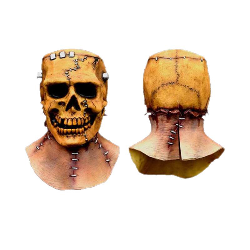 【ポイント最大29倍●お買い物マラソン限定!エントリー】Frankenskull マスク Frankenstein Skull スケルトン がいこつ 大人用 アクセサリー ハロウィン コスチューム コスプレ 衣装 変装 仮装