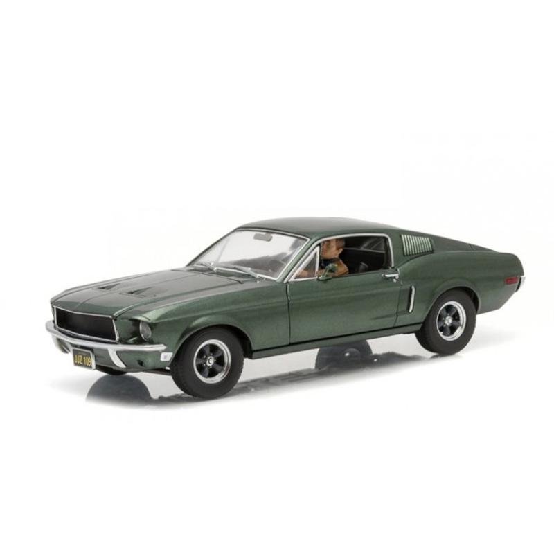 Greenlight 1 18 Bullitt 1968 Ford Mustang GT Fastback - Highland Green with Steven McQueen Figure おもちゃ 模型 ラジコン フィギュア