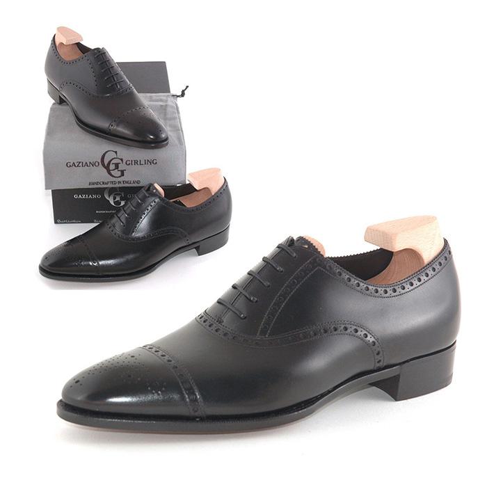 送料無料 ガジアーノ&ガーリング Gaziano & Girling メンズ 革靴 紳士靴 ビジネス ビジネスシューズ 高級 本革 通勤 BURLINGTON IN BLACK CALF - DG70