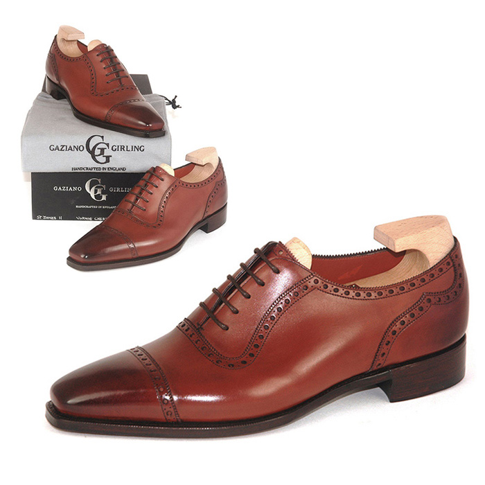 【全品P5倍】送料無料 ガジアーノ&ガーリング Gaziano & Girling メンズ 革靴 紳士靴 ビジネス ビジネスシューズ 高級 本革 通勤 ST JAMES II IN VINTAGE CHERRY CALF - TG73