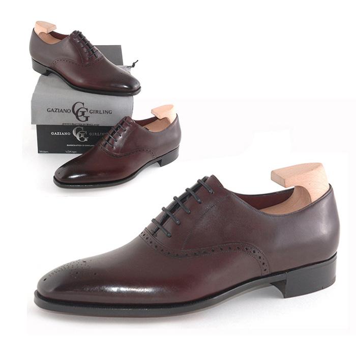 送料無料 ガジアーノ&ガーリング Gaziano & Girling メンズ 革靴 紳士靴 ビジネス ビジネスシューズ 高級 本革 通勤 HILTON IN VINTAGE RIOJA CALF - MH71