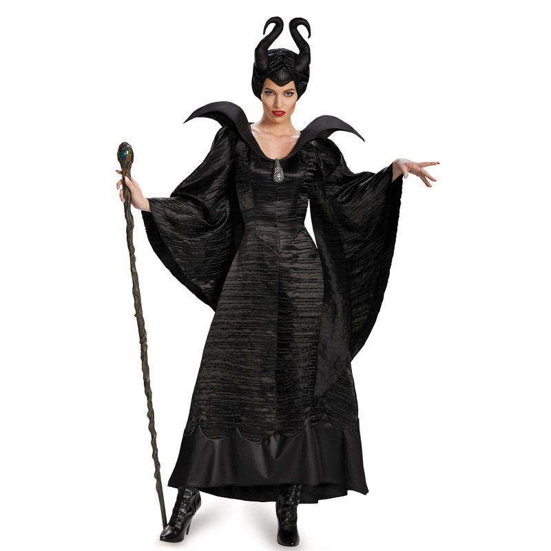 【ポイント最大29倍●お買い物マラソン限定!エントリー】公式 マレフィセント Maleficent ハロウィン レディース 衣装 コスプレ 仮装 魔女 コスチューム 大人 レディス ハロウィーン 映画 眠れる森の美女 オーロラ姫 ワンピース ドレス