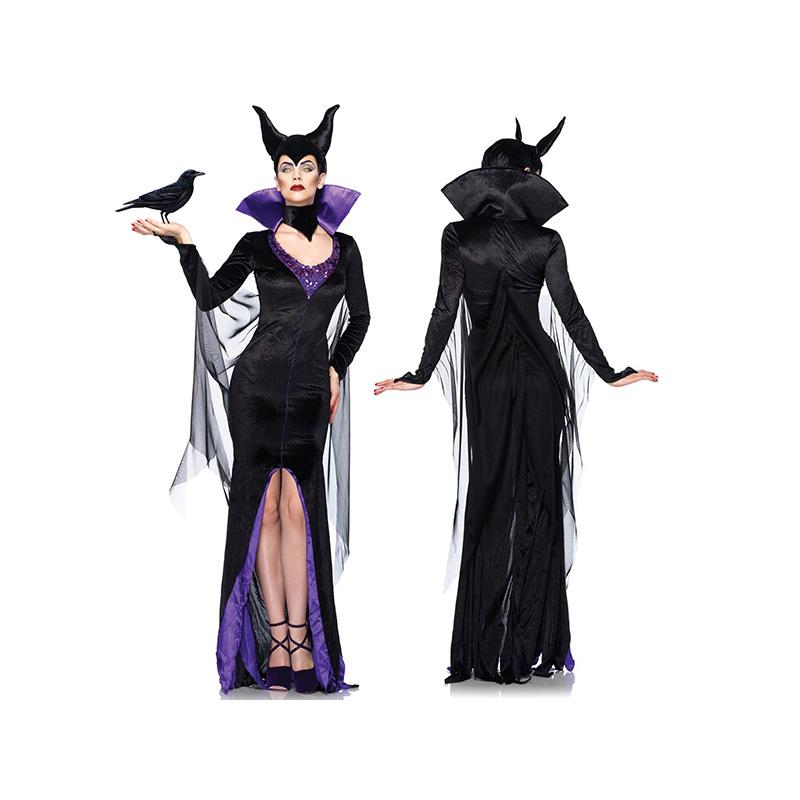 マレフィセント 大人 女性用 セクシー コスチューム コスプレ Leg Avenue レッグアベニュー アンジェリーナジョリー 眠れる森の美女 オーロラ姫 ハロウィン かわいい 衣装 ドレス ワンピース 髪飾り レディス Maleficent