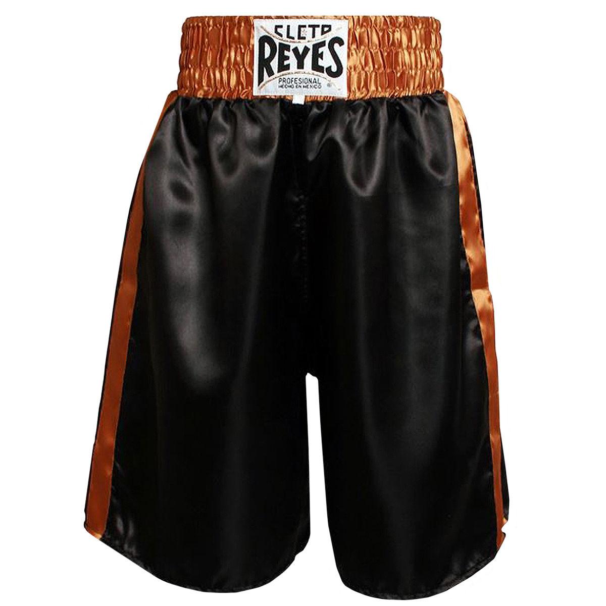 REYES レイジェス ボクシング パンツ ハーフパンツ ボクシングトランクス ブラックゴールド 黒