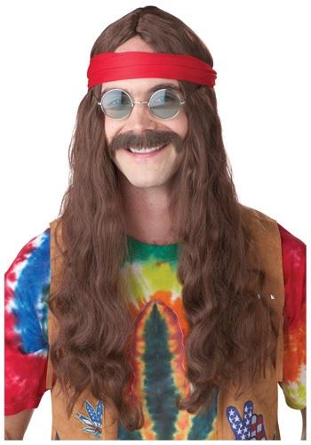 Hippie Man ウィッグ and Mustache クリスマス ハロウィン コスプレ 衣装 仮装 小道具 おもしろい イベント パーティ ハロウィーン 学芸会
