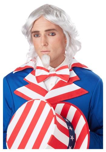 Uncle Sam ウィッグ and Chin Patch クリスマス ハロウィン コスプレ 衣装 仮装 小道具 おもしろい イベント パーティ ハロウィーン 学芸会