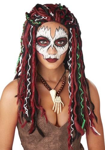 Women's Voodoo Priestess ウィッグ ハロウィン コスプレ 衣装 仮装 小道具 おもしろい イベント パーティ ハロウィーン 学芸会