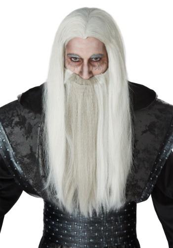 大人用 Dark Wizard ウィッグ and Beard Set クリスマス ハロウィン コスプレ 衣装 仮装 小道具 おもしろい イベント パーティ ハロウィーン 学芸会