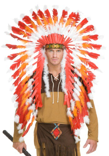 大人用 Native American Chieftain Headdress ハロウィン コスプレ 衣装 仮装 小道具 おもしろい イベント パーティ ハロウィーン 学芸会
