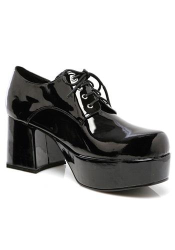 Men's ブラック Pimp シューズ 靴 ハロウィン コスプレ 衣装 仮装 小道具 おもしろい イベント パーティ ハロウィーン 学芸会