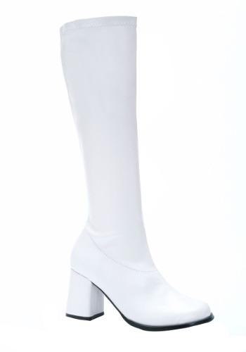 Women's ホワイト Gogo コスチューム ブーツ ハロウィン コスプレ 衣装 仮装 小道具 おもしろい イベント パーティ ハロウィーン 学芸会