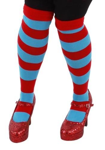 Thing 1 & Thing 2 Striped Knee Highs クリスマス ハロウィン コスプレ 衣装 仮装 小道具 おもしろい イベント パーティ ハロウィーン 学芸会