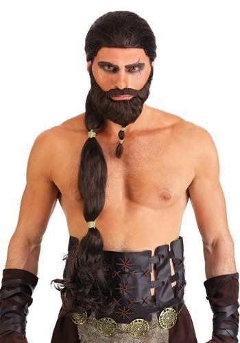 Warrior King ウィッグ and Beard ハロウィン コスプレ 衣装 仮装 小道具 おもしろい イベント パーティ ハロウィーン 学芸会