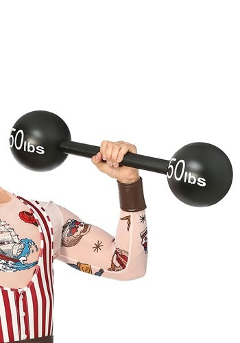 100lbs Strongman Barbell Weight クリスマス ハロウィン コスプレ 衣装 仮装 小道具 おもしろい イベント パーティ ハロウィーン 学芸会