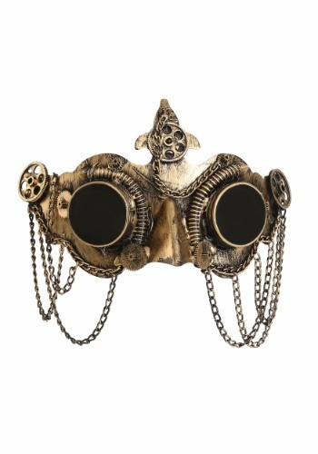 デラックス Steampunk Goggles マスク クリスマス ハロウィン コスプレ 衣装 仮装 小道具 おもしろい イベント パーティ ハロウィーン 学芸会