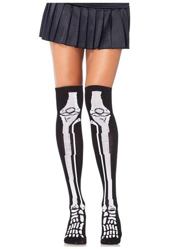 Skeleton Knee High Socks クリスマス ハロウィン コスプレ 衣装 仮装 小道具 おもしろい イベント パーティ ハロウィーン 学芸会