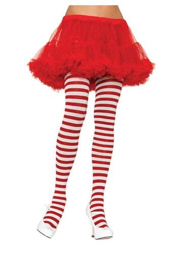 大きいサイズ ホワイト / レッド Striped Tights クリスマス ハロウィン コスプレ 衣装 仮装 小道具 おもしろい イベント パーティ ハロウィーン 学芸会
