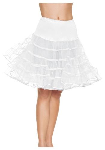 ホワイト Knee Length Petticoat ハロウィン コスプレ 衣装 仮装 小道具 おもしろい イベント パーティ ハロウィーン 学芸会