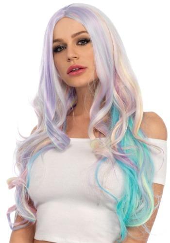 Ladies Pastel Rainbow Wavy ウィッグ ハロウィン コスプレ 衣装 仮装 小道具 おもしろい イベント パーティ ハロウィーン 学芸会
