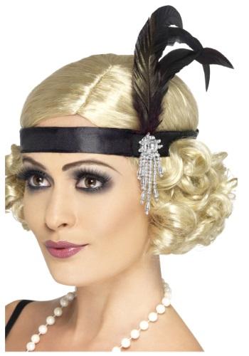 Jeweled ブラック フラッパー Headband クリスマス ハロウィン コスプレ 衣装 仮装 小道具 おもしろい イベント パーティ ハロウィーン 学芸会