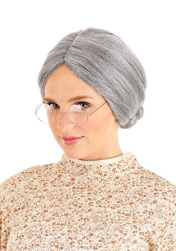 Grey Old Lady ウィッグ ハロウィン コスプレ 衣装 仮装 小道具 おもしろい イベント パーティ ハロウィーン 学芸会