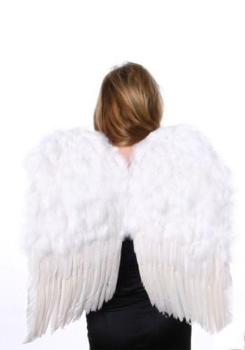 Medium ホワイト Feather Angel 羽 クリスマス ハロウィン コスプレ 衣装 仮装 小道具 おもしろい イベント パーティ ハロウィーン 学芸会