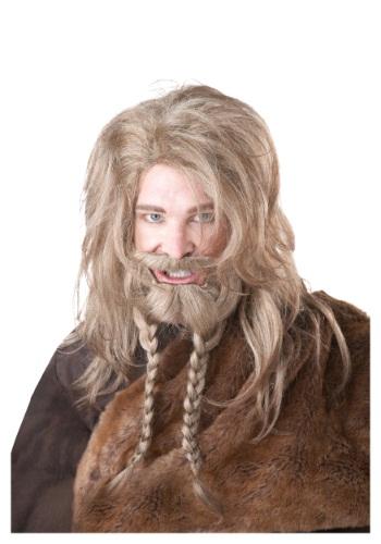 Blonde Viking ウィッグ, Beard and Mustache クリスマス ハロウィン コスプレ 衣装 仮装 小道具 おもしろい イベント パーティ ハロウィーン 学芸会