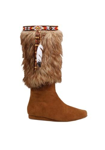 大人用 Brown Native American ブーツ ハロウィン コスプレ 衣装 仮装 小道具 おもしろい イベント パーティ ハロウィーン 学芸会