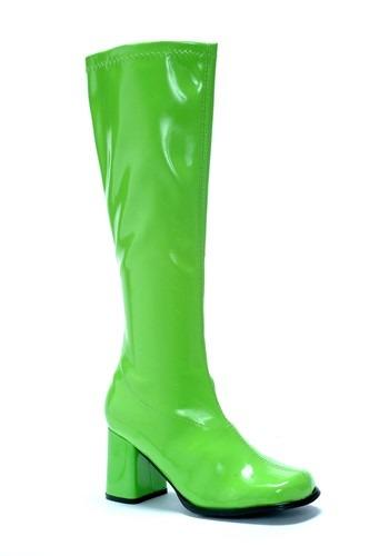 Women's Green Gogo ブーツ ハロウィン コスプレ 衣装 仮装 小道具 おもしろい イベント パーティ ハロウィーン 学芸会