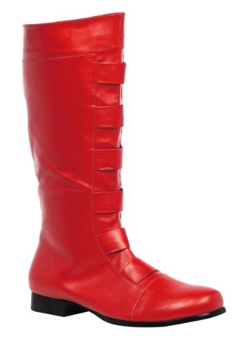 大人用 レッド Superhero ブーツ ハロウィン コスプレ 衣装 仮装 小道具 おもしろい イベント パーティ ハロウィーン 学芸会