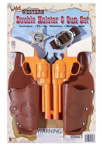 Double Holster and Gun Set クリスマス ハロウィン コスプレ 衣装 仮装 小道具 おもしろい イベント パーティ ハロウィーン 学芸会