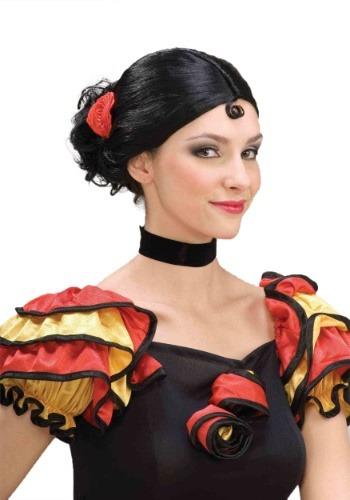 Womens Spanish Senorita ウィッグ クリスマス ハロウィン コスプレ 衣装 仮装 小道具 おもしろい イベント パーティ ハロウィーン 学芸会