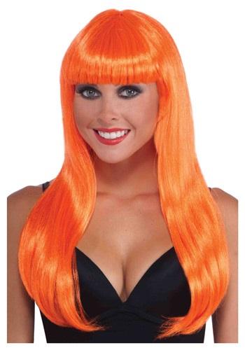 Neon Orange Long ウィッグ クリスマス ハロウィン コスプレ 衣装 仮装 小道具 おもしろい イベント パーティ ハロウィーン 学芸会
