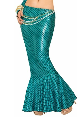 Women's Blue マーメイド 人魚 Fin Skirt コスチューム ハロウィン コスプレ 衣装 仮装 小道具 おもしろい イベント パーティ ハロウィーン 学芸会