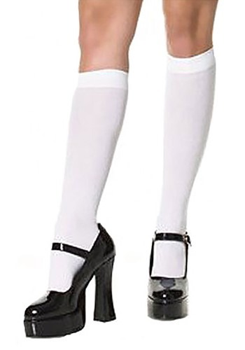 ホワイト Knee High Stockings クリスマス ハロウィン コスプレ 衣装 仮装 小道具 おもしろい イベント パーティ ハロウィーン 学芸会