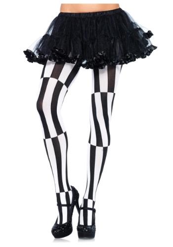 Striped Optical Illusion Tights クリスマス ハロウィン コスプレ 衣装 仮装 小道具 おもしろい イベント パーティ ハロウィーン 学芸会
