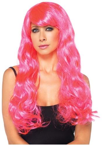 Neon Pink Long ウィッグ クリスマス ハロウィン コスプレ 衣装 仮装 小道具 おもしろい イベント パーティ ハロウィーン 学芸会