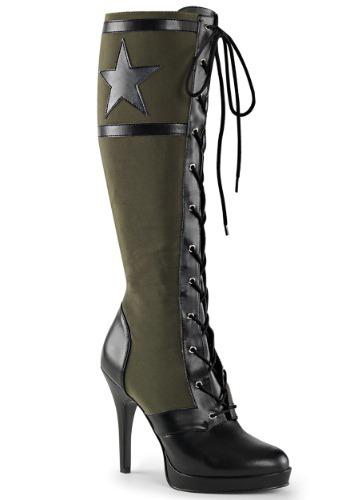 Women's Militia ブーツ ハロウィン コスプレ 衣装 仮装 小道具 おもしろい イベント パーティ ハロウィーン 学芸会