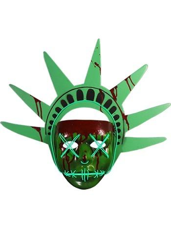 The Purge Lady Liberty Light Up マスク ハロウィン コスプレ 衣装 仮装 小道具 おもしろい イベント パーティ ハロウィーン 学芸会