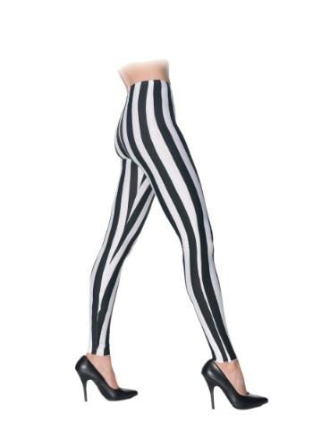 ブラック & ホワイト Striped Leggings クリスマス ハロウィン コスプレ 衣装 仮装 小道具 おもしろい イベント パーティ ハロウィーン 学芸会