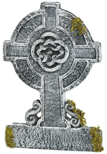 Mossy Celtic Cross Tombstone クリスマス ハロウィン コスプレ 衣装 仮装 小道具 おもしろい イベント パーティ ハロウィーン 学芸会