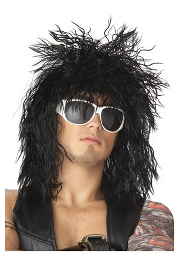 ブラック Rocker Dude ウィッグ クリスマス ハロウィン コスプレ 衣装 仮装 小道具 おもしろい イベント パーティ ハロウィーン 学芸会