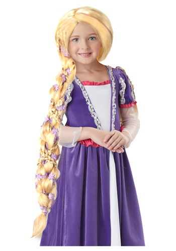 Rapunzel コスチューム ウィッグ with Flowers ハロウィン コスプレ 衣装 仮装 小道具 おもしろい イベント パーティ ハロウィーン 学芸会