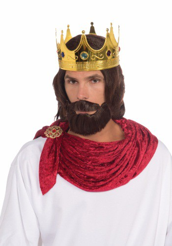 大人用 Royal King ウィッグ And Beard Set クリスマス ハロウィン コスプレ 衣装 仮装 小道具 おもしろい イベント パーティ ハロウィーン 学芸会