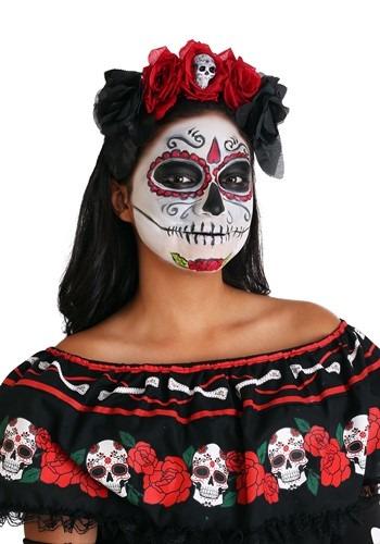 Day of the Dead Flower Headband クリスマス ハロウィン コスプレ 衣装 仮装 小道具 おもしろい イベント パーティ ハロウィーン 学芸会